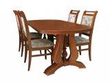 Деревянный стол серии Элит со стульями Премьер-М из массива березы