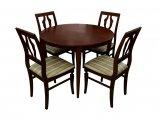 Деревянный стол серии Трапеза со стульями Элегия из массива березы